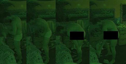 """""""BBB 12"""": Jonas ignora as câmeras e fica pelado antes de dormir"""